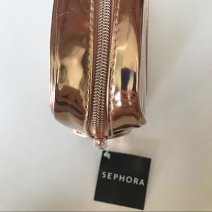 Sephora Bags - Sephora Rose Gold Clear Zippered Makeup Bag Pouch